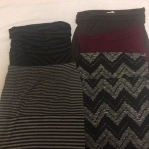 Dresses & Skirts - 5 knit maxi skirts $8 Sz 4Small 1 med.